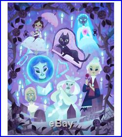 2019 Disney D23 Expo Ladies of the Haunted Mansion Deluxe Print Joey Chou LE 100
