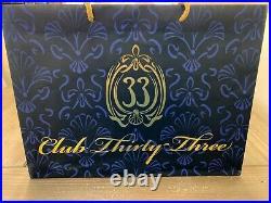 Club 33 50th Anniversary Haunted Mansion Bust Tiki Mugs Set PLUS 2 Club 33 Bags