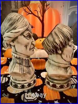 Club 33 Haunted Mansion 50th Anniversary Tiki Bust Mugs, set of 2, never used