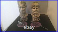 DISNEY CLUB 33 HAUNTED MANSION TIKI MUGS with swizzle stick and coasters