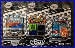 DISNEY PARK CRUISERS 5 pin lot Haunted Mansion, Ariel, Alice. LE 2000 Rare