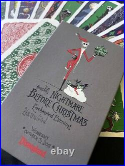 DiSNeYLaND NiGHTMaRe BeFORe CHRiSTMaS HaUNTeD MaNSiON HoLiDAY TaRoT CaRDS LE 800