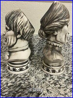 Disney Club 33 Haunted Mansion 50th Anniversary Tiki Bust Mug Set NiB Withswizzles