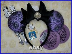 Disney Club 33 set Key chain & Haunted Mansion 50th Minnie Mouse Ears + Extras