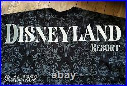 Disney Disneyland Haunted Mansion Wallpaper Black Spirit Jersey XS S M L XL 2XL