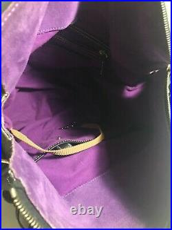 Disney Dooney Bourke Haunted Mansion Collection Smith Satchel Purple Lining Bag