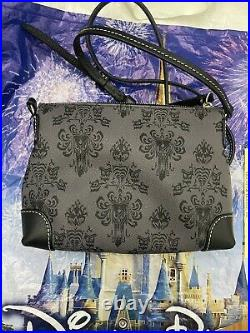 Disney Dooney & Bourke Haunted Mansion Wallpaper Crossbody Pouchette Purse Bag