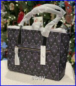 Disney Dooney & Bourke Haunted Mansion Wallpaper Tote NWT