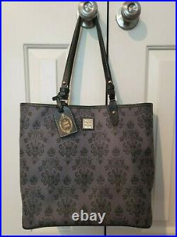 Disney Dooney & Bourke Haunted Mansion tote shopper bag purse Mickey WDW black
