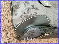 Disney Dooney & Bourke Haunted Mansion wallpaper tote gray purse bag black