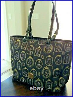 Disney Dooney and Bourke Haunted Mansion Portraits Nylon Shopper Tote Bag NWT