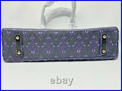 Disney Dooney & and Bourke Haunted Mansion Purple Wallpaper Tote Purse 2020 A