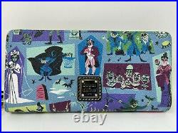Disney Dooney & and Bourke Haunted Mansion Wallet Hatbox Ghost Bride Blue NWT