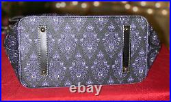 Disney Dooney and Bourke Haunted Mansion Wallpaper Hobo Handbag NWT