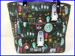 Disney Dooney & and Bourke Haunted Mansion Zip Tote Bag Purse Madame Leota Ghost