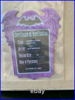 Disney Happy Haunts Ball Materializing Haunted Mansion Framed LE 50 Pin Set