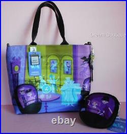 Disney Harvey's SHAG Haunted Mansion Tote Handbag & Matching Coin Purse Set NWT