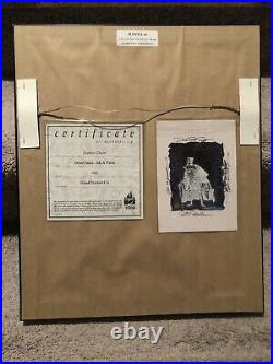 Disney Haunted Mansion Hatbox Ghost Hand Painted Cel LE 300