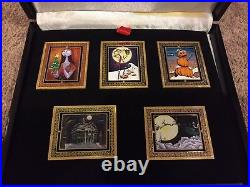 Disney Haunted Mansion Holiday Nightmare Sally Jack Portraits Spin Box Pin Set