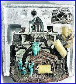 Disney Haunted Mansion Light Up House Hitchhiker Ghosts Rare Retired Sculpture
