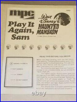 Disney Haunted Mansion Play It Again, Sam Model Kit 1/12, MPC 1974 New NIB