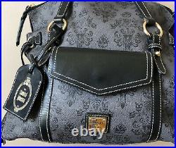 Disney Haunted Mansion Purple Lining Dooney & Bourke Satchel Handbag Used