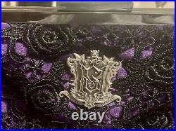 Disney Haunted Mansion Purse Master Gracey Crest- Purple Excellent Condition