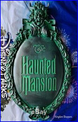 Disney Parks HAUNTED MANSION Gate Plaque Sign FULL SIZE REPLICA 45th Anniversary