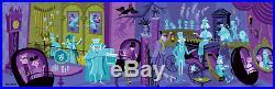 Disney Parks Haunted Mansion 50th Anniversary 31 Ghosts Canvas Wrap Shag 60x18