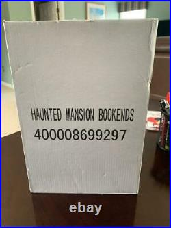 Disney Parks Haunted Mansion Bookends Limited Release Library Busts Resin New