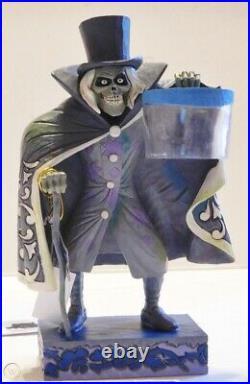 Disney Parks Haunted Mansion Hatbox Ghost Jim Shore Glow in the Dark Statue
