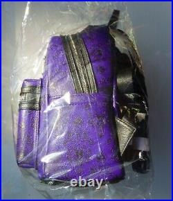 Disney Parks Loungefly Haunted Mansion Purple Wallpaper Mini Backpack Nwt/bag
