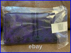 Disney Parks Loungefly Haunted Mansion Purple Wallpaper Wallet Purse 2019 NWT