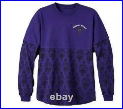 Disney Parks Spirit Jersey The Haunted Mansion Ghost Host Purple Size Medium