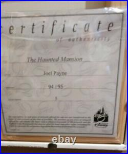 Disney Parks THE HAUNTED MANSION Joel Payne LE Framed GICLEE Canvas 94/95