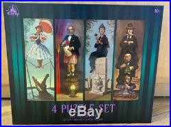 Disney Parks The Haunted Mansion 4 Puzzle Set Stretching Room Portraits NEW