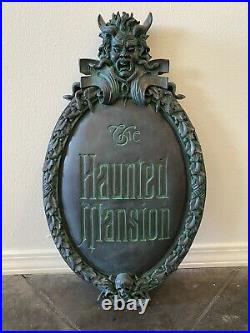 Disney Parks The Haunted Mansion Classic Gate/Wall Plaque Sign 45th Anniversary