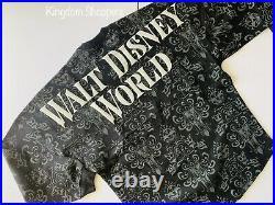 Disney Parks WDW World Haunted Mansion Wallpaper Glow Dark Spirit Jersey Size XL