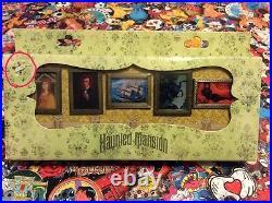 Disney Pin Trading Collectors Haunted Mansion Box Set & UV Black Light Decoder