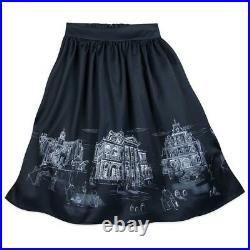Disney The Dress Shop Haunted Mansion Skirt Disney Parks Size SM NWT