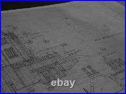 Disney World MK Haunted Mansion Blueprints-22 shts-1970's -36 x 48