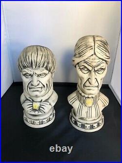 Disneyland CLUB 33 Haunted Mansion 50th Bust Tiki Mugs Swizzle Sticks Coasters