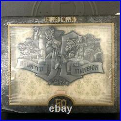 Disneyland Haunted Mansion 50th Anniversary Super Jumbo Collage Pin LE 500