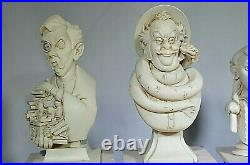 Disneys 45th Anniversary HAUNTED MANSION 5 PILLAR BUST SET Dread Family Statues