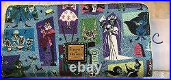 Dooney & Bourke Disney Haunted Mansion Wristlet Wallet Brand New With Tags