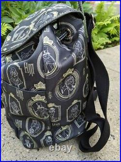 Dooney & Bourke Disney Parks Nylon Haunted Mansion Portraits Backpack