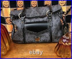 Dooney and Bourke Haunted Mansion Smith Satchel Bag Purse Purple lining Disney