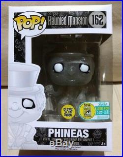 Funko Pop Disney Haunted Mansion Phineas Glow GITD SDCC 2016 Exclusive LE1000