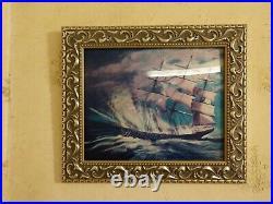 GENUINE Disney 1999 Haunted Mansion framed lenticular Pirate/Ghost ship (LE 75)