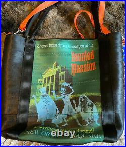Harveys Disney Disneyland 60th Anniversary Haunted Mansion Poster Tote New